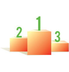 pedestal with numbers vector image vector image