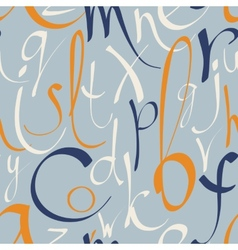 Seamless pattern with hand drawn alphabet vector image