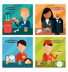 Set of reception character vector image