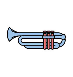 trumpet instrument isolated icon vector image vector image