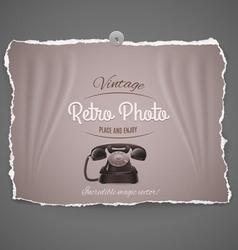 Vintage telephone ilustration vector