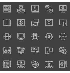 Webinar linear icons set vector image vector image