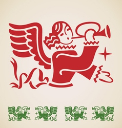Christmas angel vintage design element vector