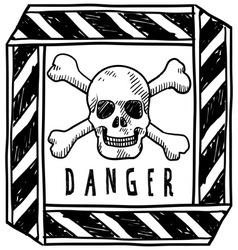 Doodle danger poison vector
