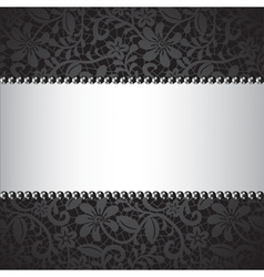 Dark lace card vector