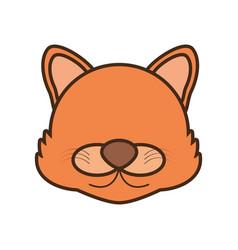 face wolf cartoon animal vector image