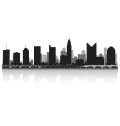 Columbus usa city skyline silhouette vector