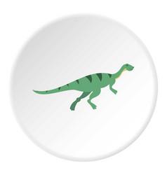 Gallimimus dinosaur icon circle vector