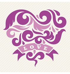 Heart and Love vector image