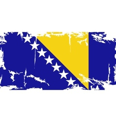 Bosnia and herzegovina grunge flag vector