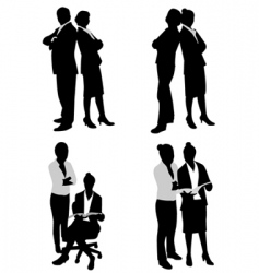 Business couple vector