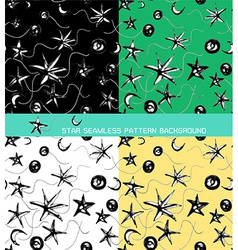 seamless pattern background of star vector image