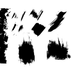 Ink blots grunge vector