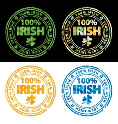 100 percent Irish vector image