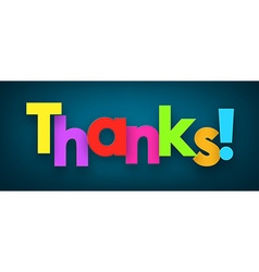 Paper thanks sign vector