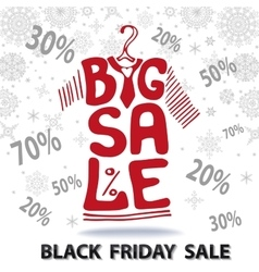 Big sale letteringtee shirt black friday vector