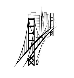 Skyline of san francisco design template vector