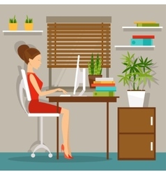 Workplace working day vector