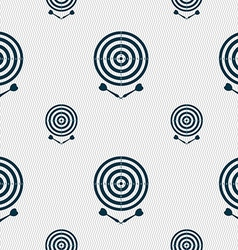 Darts icon sign seamless pattern with geometric vector