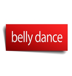 Belly dance red paper sign isolated on white vector