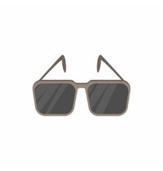 Glasses with black lenses icon cartoon style vector
