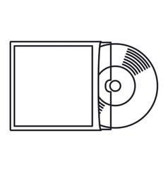 Vinyl music isolated icon design vector