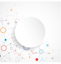 Abstract geometric background circle technology vector