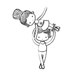 Ballet dancers design vector