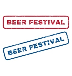Beer festival rubber stamps vector