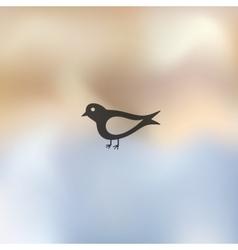 Bird icon on blurred background vector