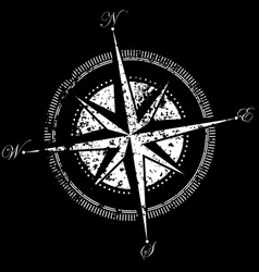 Drawing of a compass vector