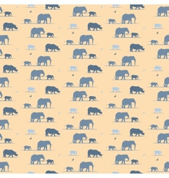 elephants wallpaper vector image