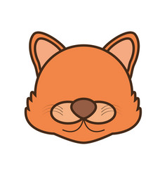 face wolf cartoon animal vector image