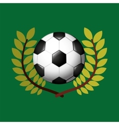 Football olympic games emblem vector