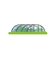 greenhouse with glass walls farm building vector image