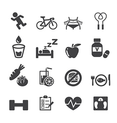 Health icon set vector