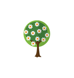 Isolated garden flat icon tree element can vector