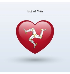 Love Isle of Man symbol Heart flag icon vector image