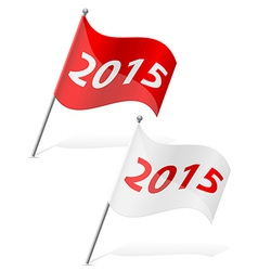 new year flag vector image vector image