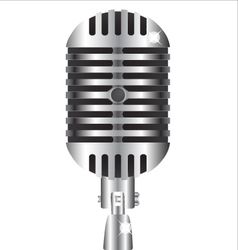 Old style professional silver microphone vector