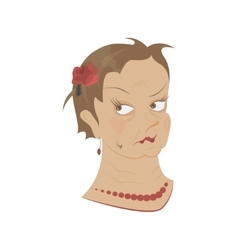 Old womans portrait vector image