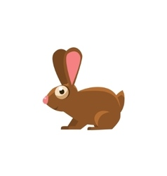 Rabbit Simplified Cute vector image vector image