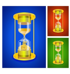 Sandglass set vector