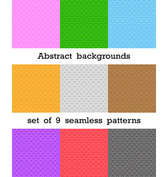 set of abstract seamless patterns rhombus vector image