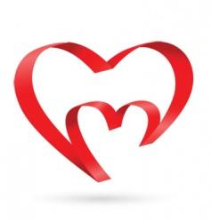 silk heart vector image vector image