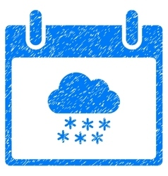Snow cloud calendar day grainy texture icon vector