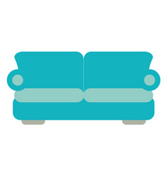 Two seat couch or sofa icon image vector