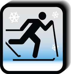 Winter icon - running vector image vector image