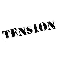 tension rubber stamp vector image