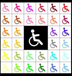 disabled sign   felt-pen 33 vector image